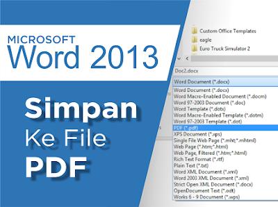 Simpan ms word ke pdf