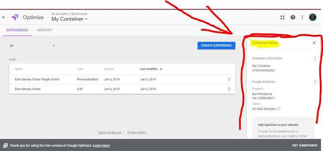 Google Optimization Tool