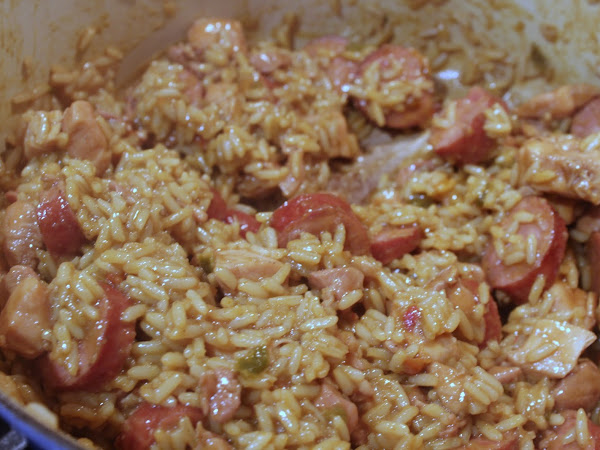 Yum yum come get you some!  (Easy jambalaya with the Jambalaya Girl)