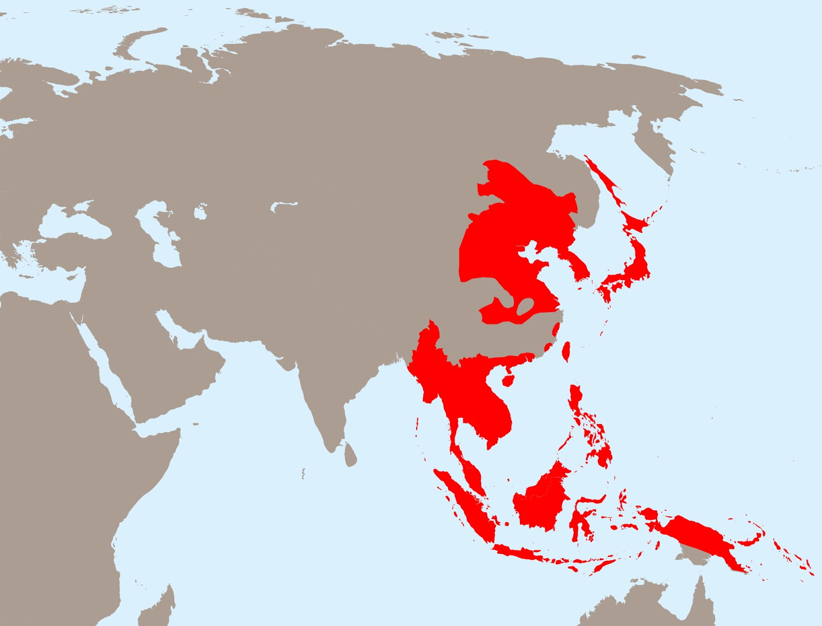 Empire of Japan at its greatest extent, 1942
