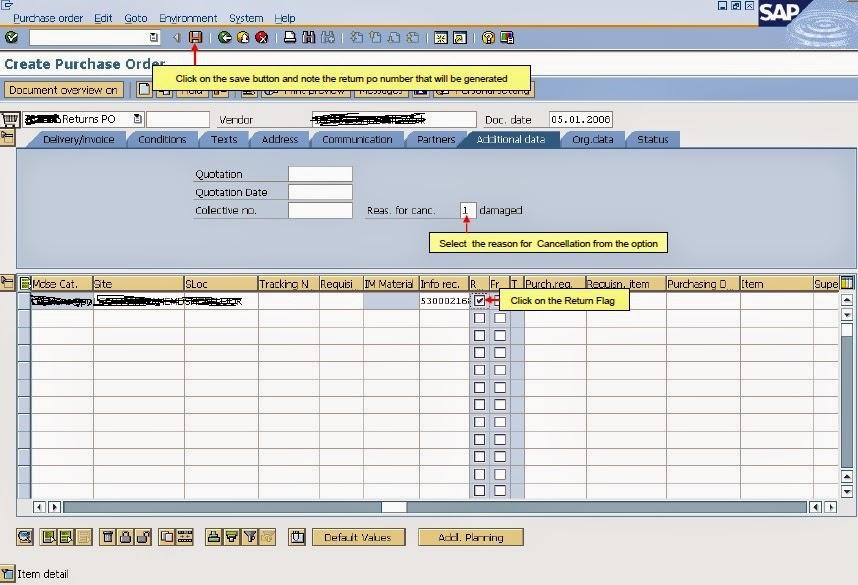 SAP MM: Return Process for Vendor in SAP