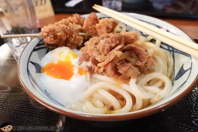Beef Ontama Bukkake Udon of Marugame