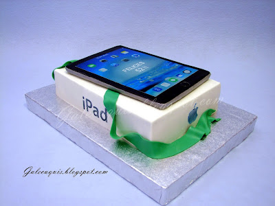 Tarta fondant iPad
