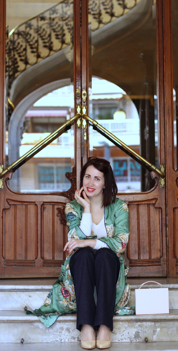 fecha de lanzamiento el mejor 100% de alta calidad Green kimono | Madame Chic Bcn