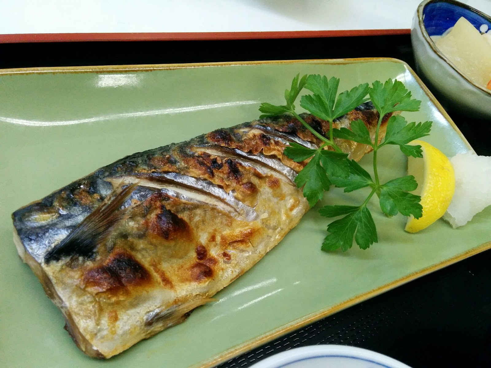 Mashed Thoughts  January 2015 Grilled Mackerel Teishoku