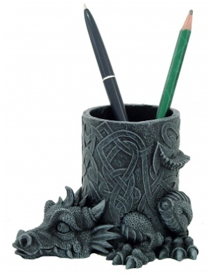 pen pot with dragon