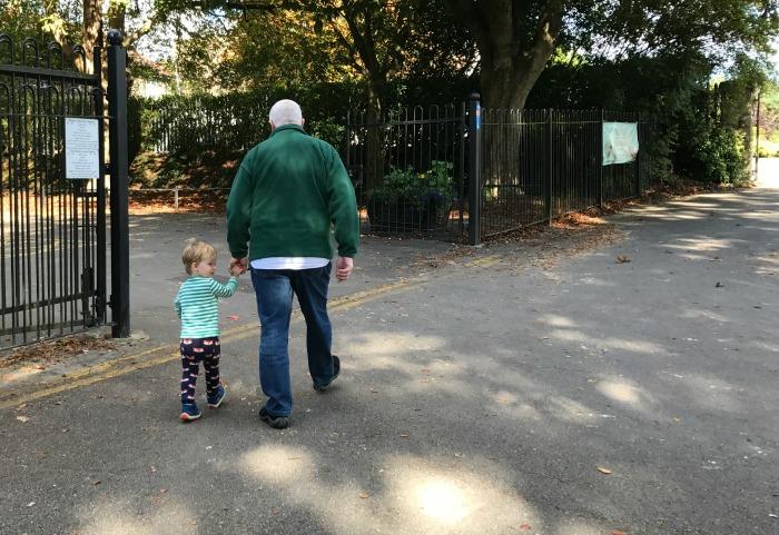 Walking with Grandad Roddy