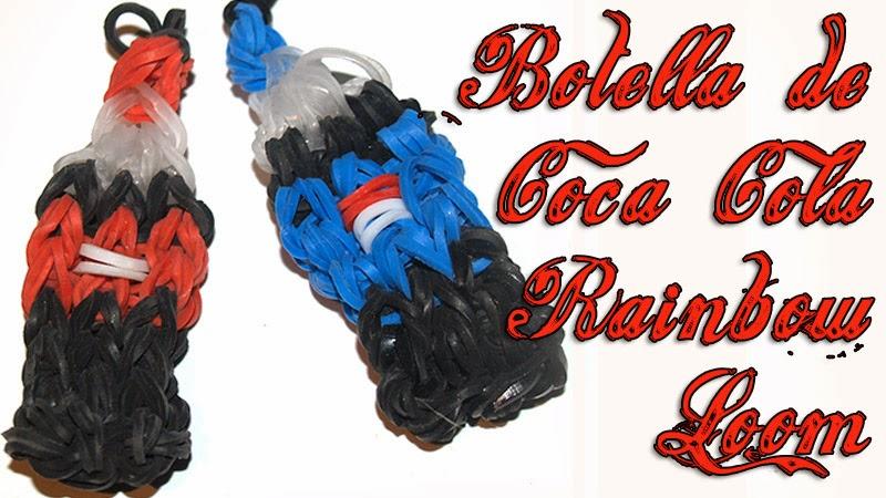 Botella de Coca Cola Rainbow Loom - DIY - Coke Bottle