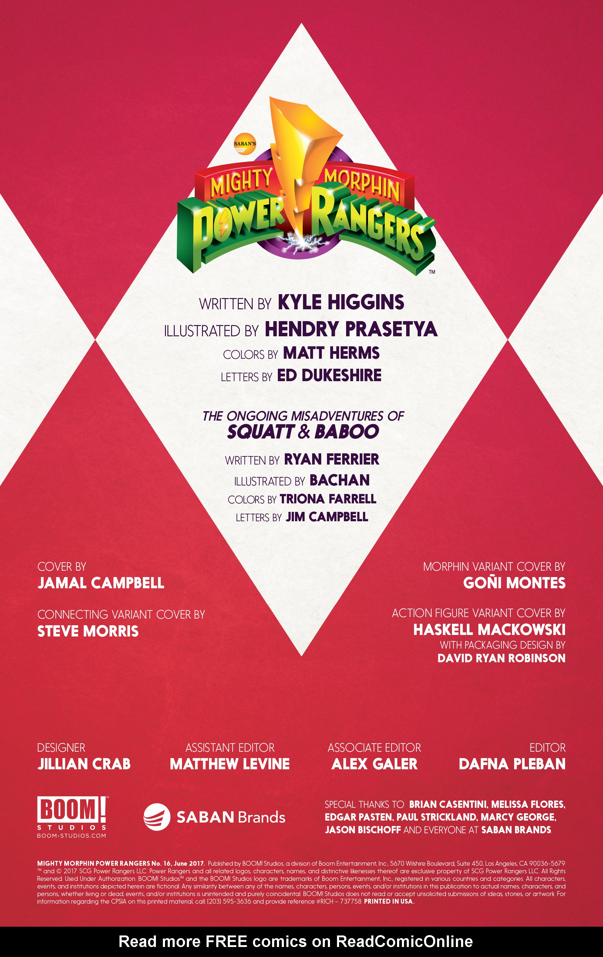 Read online Mighty Morphin Power Rangers comic -  Issue #16 - 2