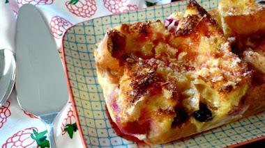 Pastel de pan duro, sin lactosa (al microondas)