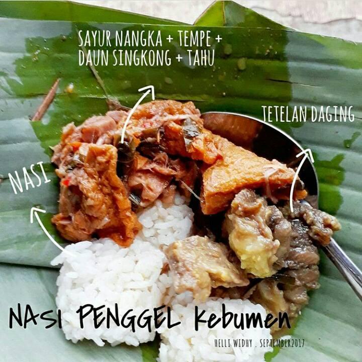 Bagian-bagian nasi penggel khas kebumen
