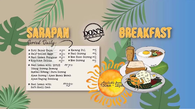 Don's Warong @ Plaza Damas, Sri Hartamas Breakfast Menu