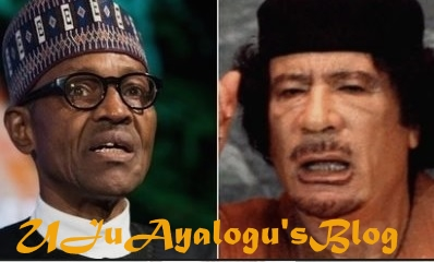 """Gaddafi's Long Rule Produced Many People Whose Only Skill Is How To Shoot Guns, They Are Now Fomenting Trouble Around The World – Buhari"