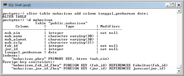Kelas Informatika - Menambah Kolom PostgreSQL