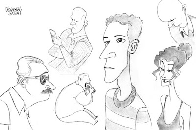 pencil sketches by Lorenzo Sabia