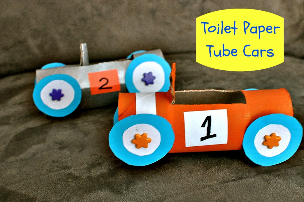 Just be happy!: Toilet Paper Tube Cars