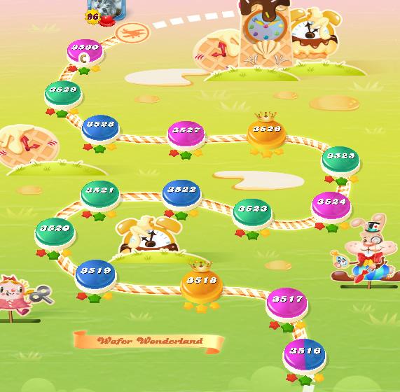Candy Crush Saga level 3516-3530