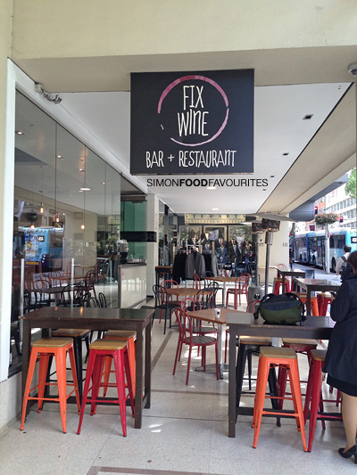 Simon food favourites fix wine bar restaurant cbd for Food bar sydney