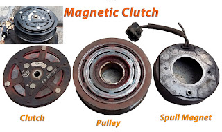 Komponen Magnetic Clutch pada Sistim AC Mobil - Clutch - Pulley - Spull Magnet