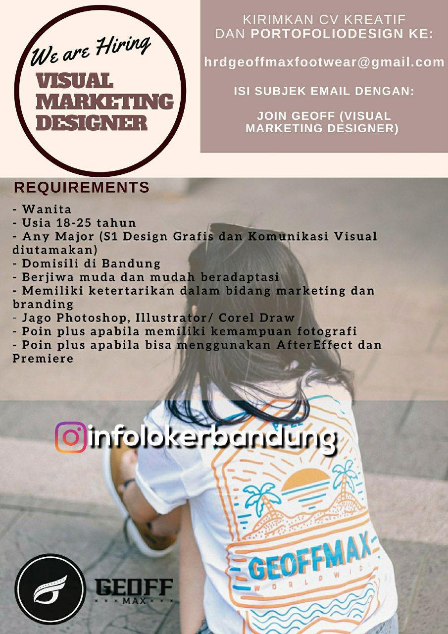 Lowongan Kerja Visual Marketing Designer Geoff Max Footwear Bandung Januari 2018
