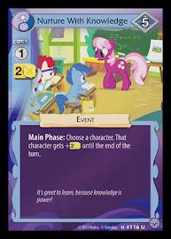 MLP Nurture With Knowledge Premiere CCG Card