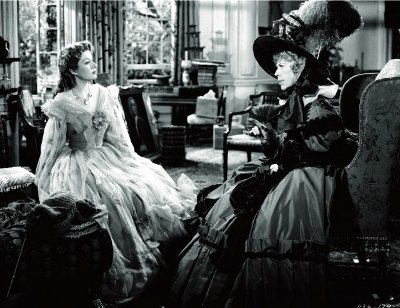 Elizabeth and Lady Catherine in Victorian dress