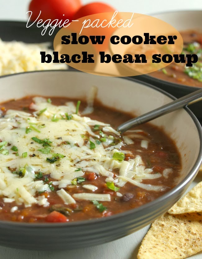 Veggie-Packed Slow Cooker Black Bean Soup