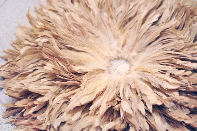 Feather Wall Art DIY African Juju Hat Tutorial