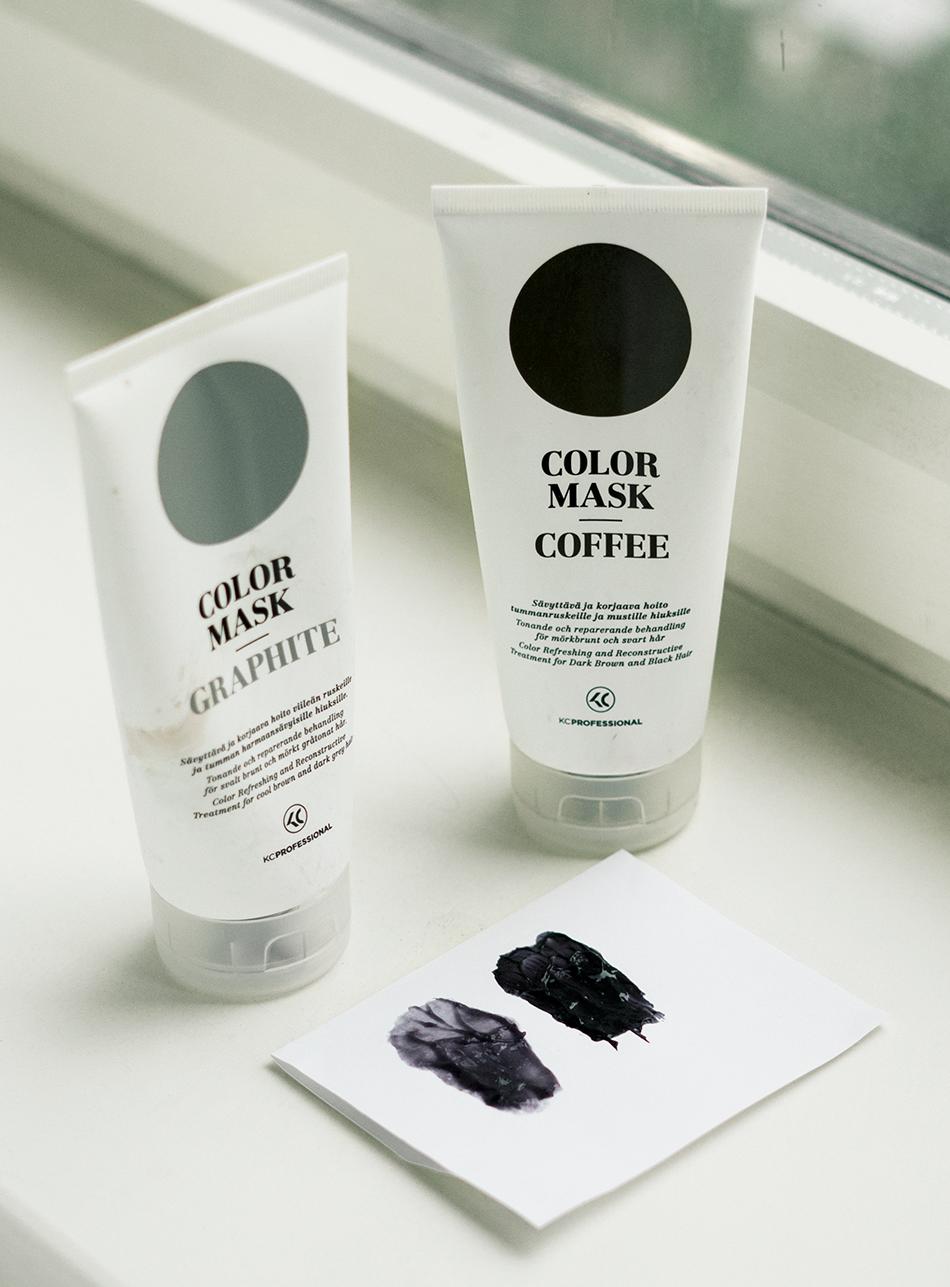 color mask viileän ruskea hiusväri kc professional graphite loreal casting creme gloss