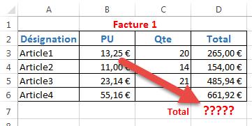 Exemple de facture simple