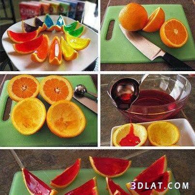 فكرة عمل الجيلى فى قشر البرتقال