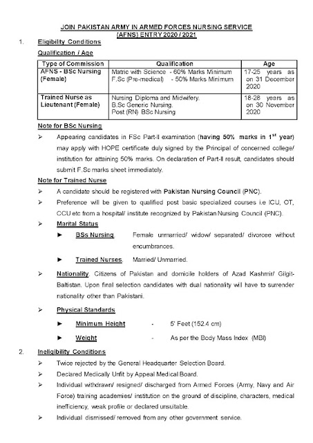 Pakistan-armed-forces-nursing-service-afns-jobs-august-2020