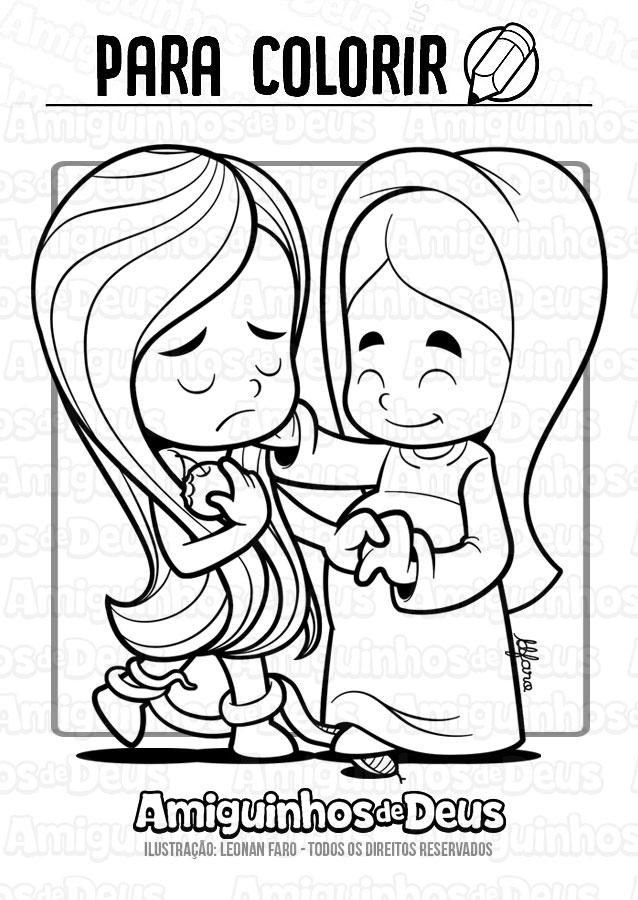 maria consola eva desenho para colorir