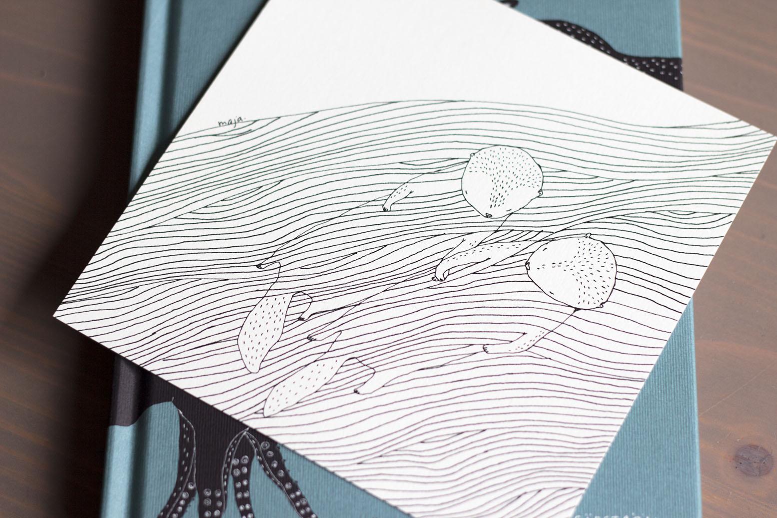 Majasbok otters print