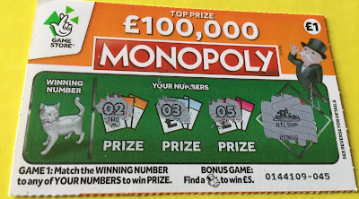 £1 National Lottery Monopoly Scratch Card