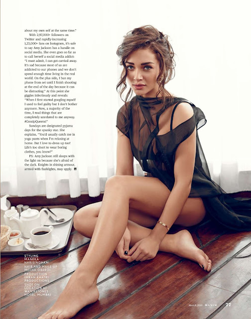 Amy Jackson stunning photoshoot pictures for Maxim India
