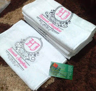 Handuk Bodir nama souvenir kelahiran