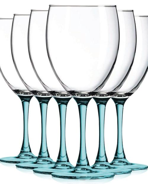Blue Stem Wine Glasses