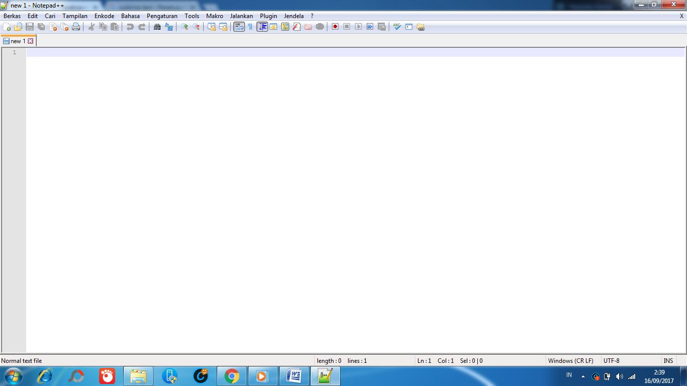 aplikasi text editor notepad ++