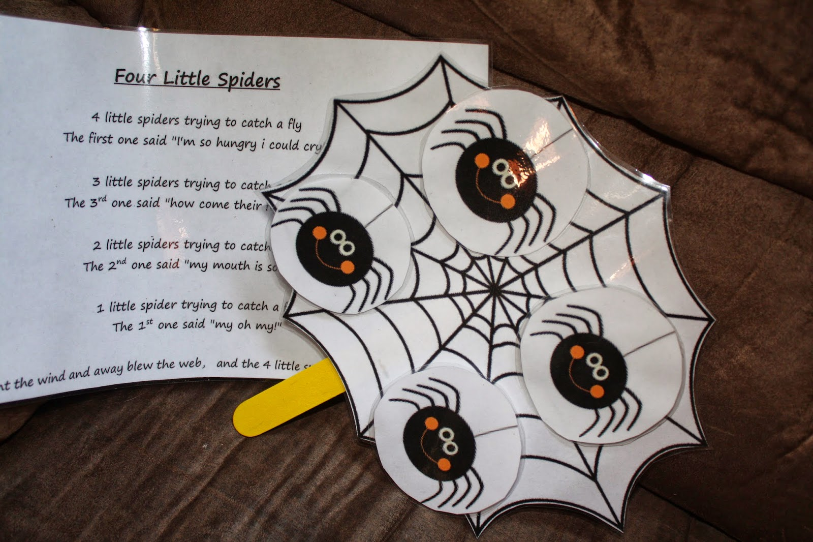 Annie S Adventures In Homeschooling 4 Little Spiders Printable Circle Time Activity