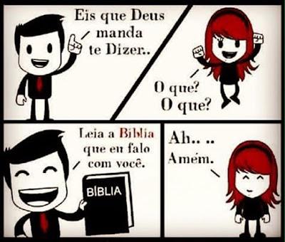 Leia a Bíblia Sagrada.
