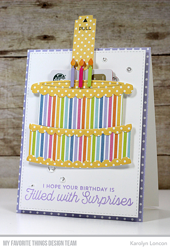 Handmade card by Karolyn Loncon featuring products from My Favorite Things #mftstamps