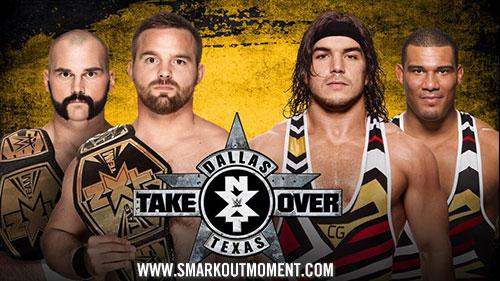 WWE NXT TakeOver: Dallas Jason Jordan Chad Gable vs Dash Dawson