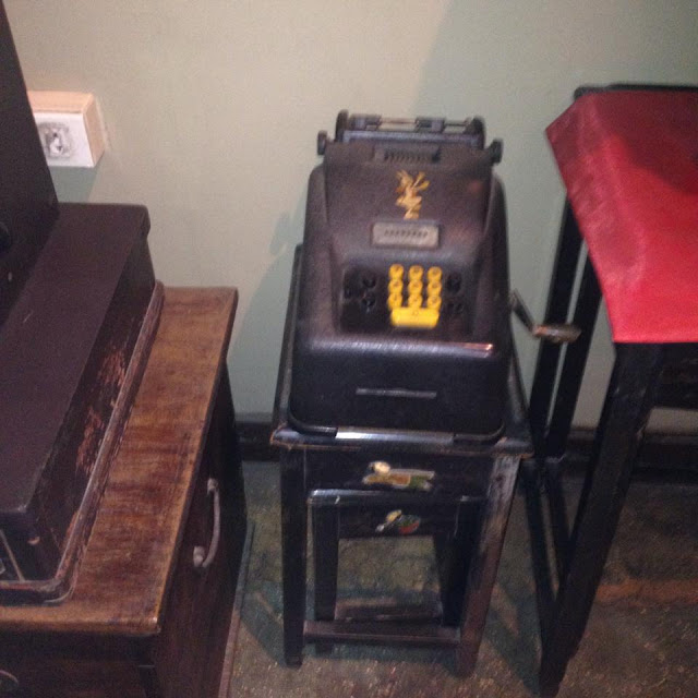 Old cash register at the Jesuit House of 1730