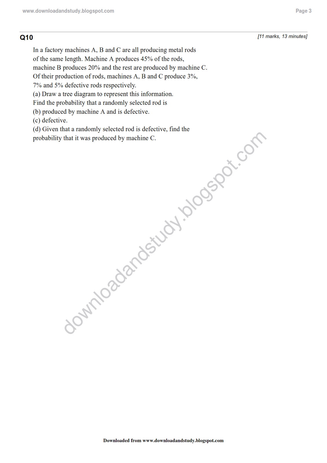 Download Amp Study As Statistics Probability Revision Test Worksheet Solved
