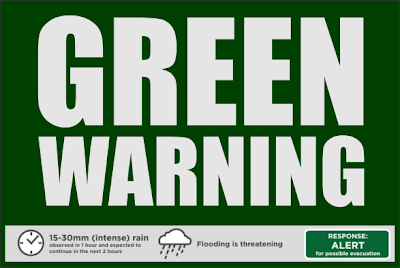 green warning