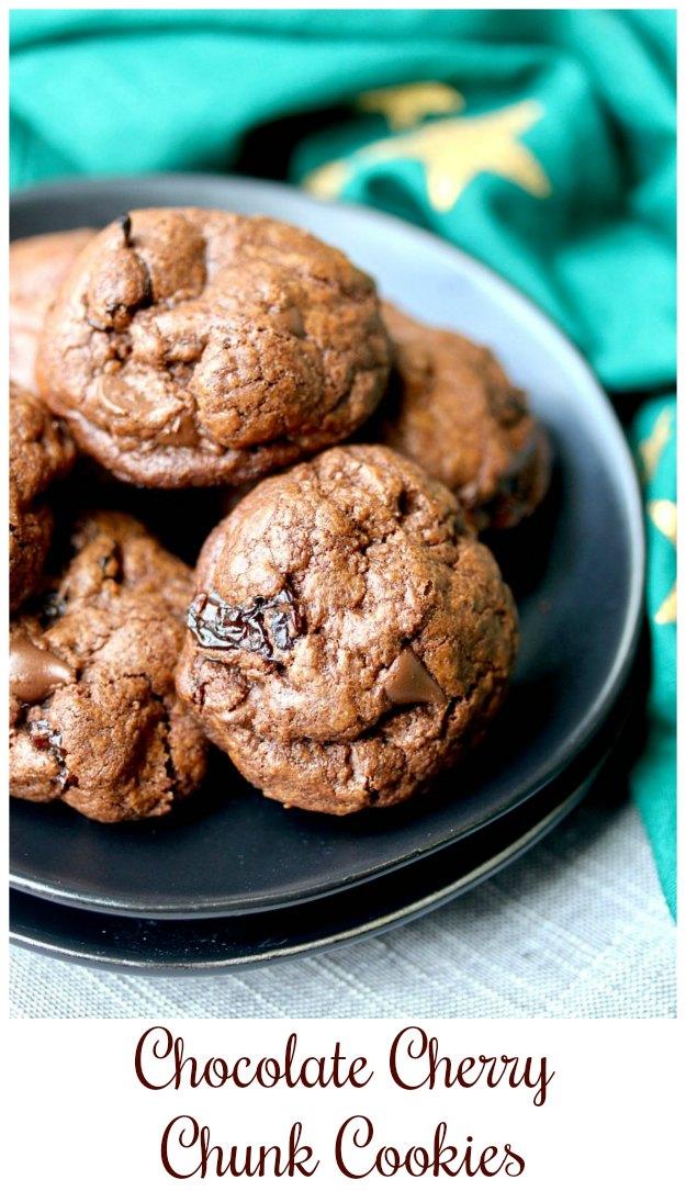 Chocolate Cherry Chunk Cookies {Small Batch}