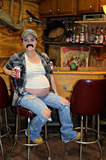 Beer Belly Redneck Pregnant Hillbilly pregnant Halloween costumes ideas