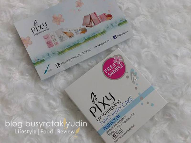 FREE SAMPLE PIXY UV WHITENING TWO WAY CAKE