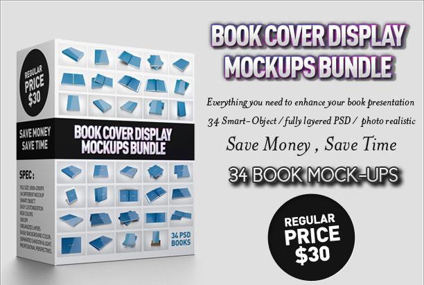 Book Cover Display Mockup Bundle